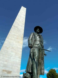 Prescott at the Bunker Hill Monument - Freedom Trail Stop 16