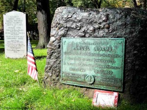 Sam Adams and Boston Massacre Victims at the Granary Burying Ground
