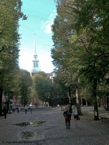 Paul Revere Mall in the North End