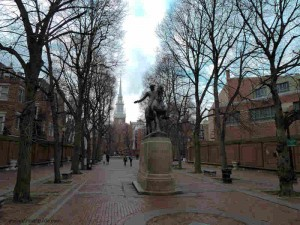 Paul Revere Mall and Old North Church