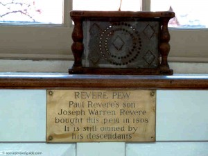 Paul Revere Pew in Old North Church