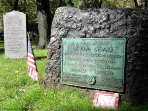 Sam Adams & Boston Massacre Victims in Granary Burying Ground