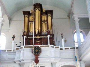Old North Church Showing Clock & Organ