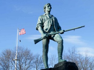 Minuteman Statue on Lexiington Battle Green