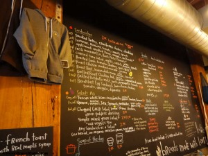 Menu Board at Flour Bakery Boston 300x225 World Class Roasted Lamb Sandwich at Flour
