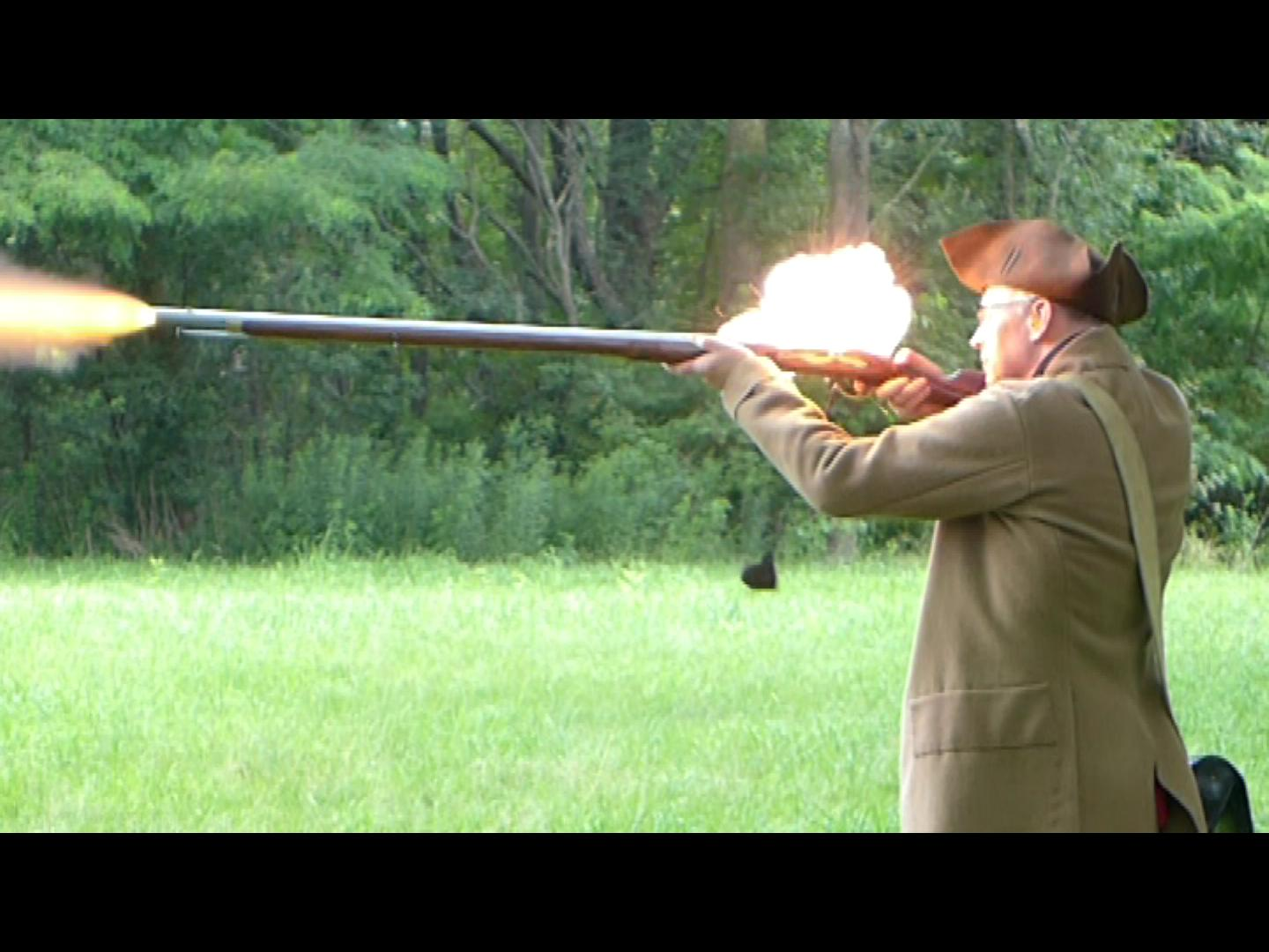 Musket Firing Demo på Minuteman National Historical Park