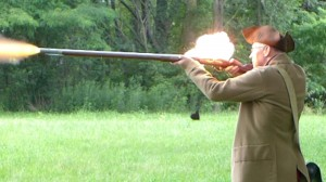 Musket Firing Demonstration at Minuteman Park